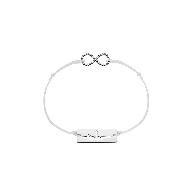 Infinity Charm Jewelry marina-hoermanseder 925 Silver Light Gray