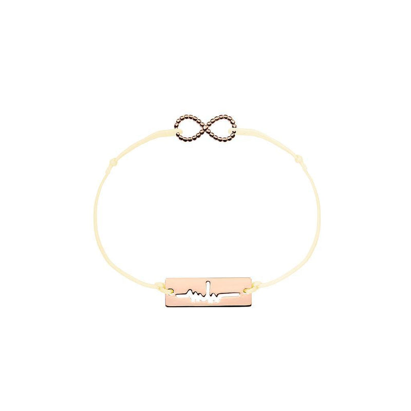 Infinity Charm Jewelry marina-hoermanseder 925 Silver Rose Gold Plated Beige