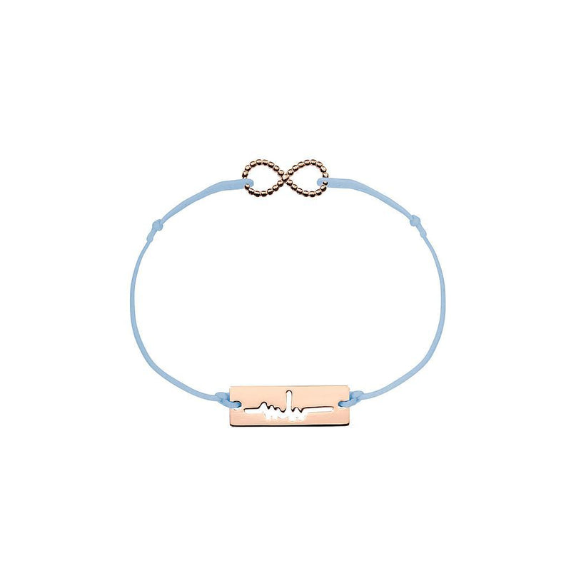 Infinity Charm Jewelry marina-hoermanseder 925 Silver Rose Gold Plated Blue