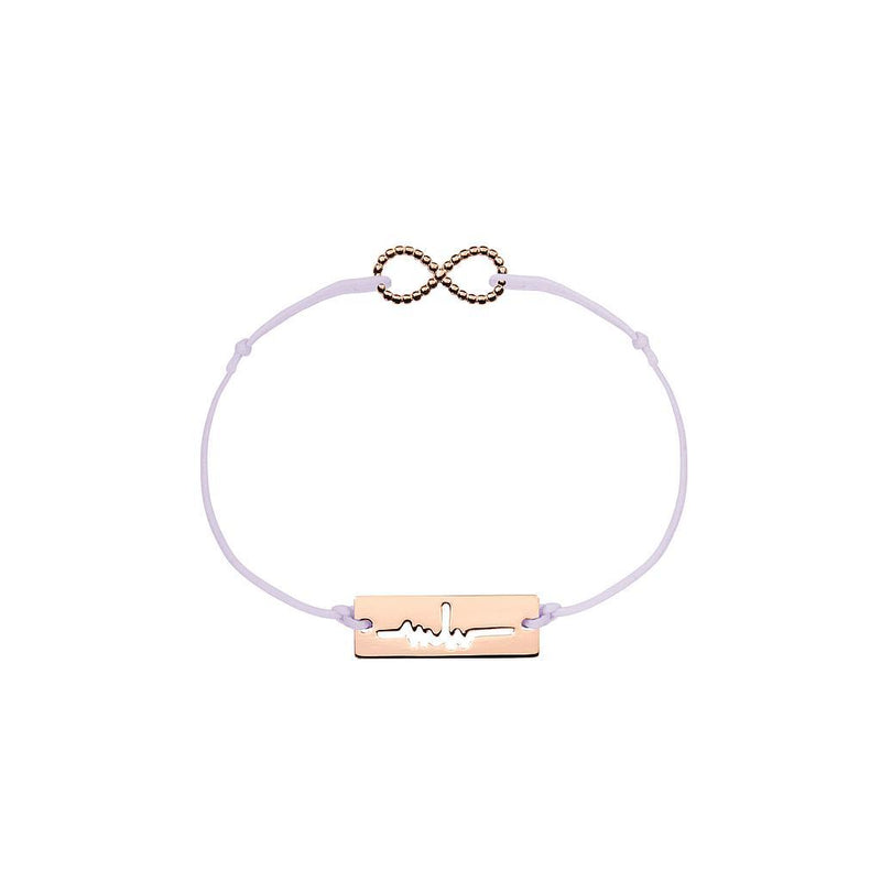 Infinity Charm Jewelry marina-hoermanseder 925 Silver Rose Gold Plated Lavender