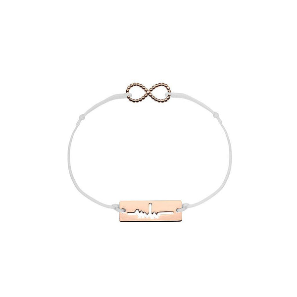 Infinity Charm Jewelry marina-hoermanseder 925 Silver Rose Gold Plated Light Gray