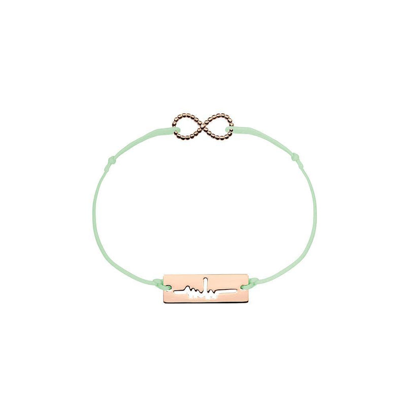 Infinity Charm Jewelry marina-hoermanseder 925 Silver Rose Gold Plated Pale Green