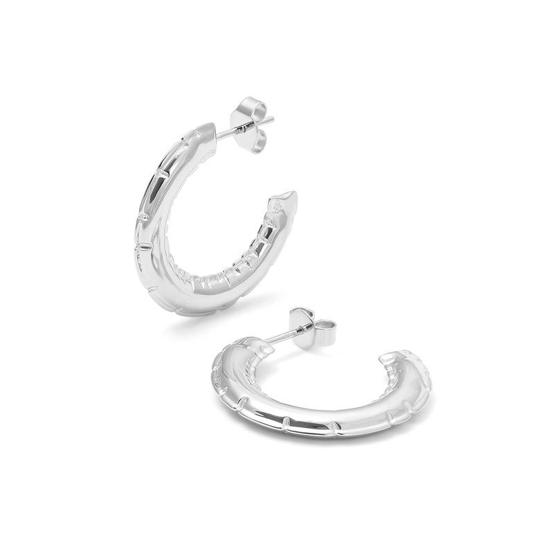 Inflated Hoops Jewelry ivania-carpio 925 Silver