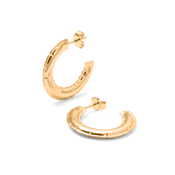 Inflated Hoops Jewelry ivania-carpio 925 Silver Gold Plated