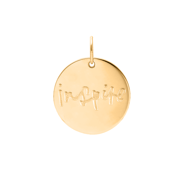 Inspire Anhänger #femboss Jewelry frau-hoelle 24ct Gold Vermeil