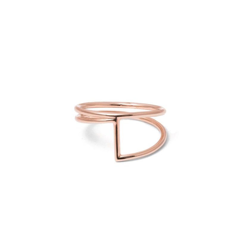 JL Jeanne Ring Jewelry justine-leconte 925 Silver Rose Gold Plated XS - 49 (15.6mm)