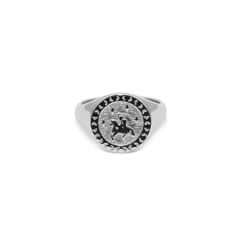 Knight in Shining Armour Adventure Ring Jewelry taylor-lashae Rhodium Plated 925 Silver XS - 49 (15.6mm)