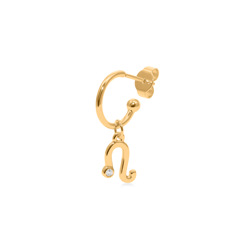 Leo Hoop Jewelry luisa-lion 24ct Gold Vermeil Single