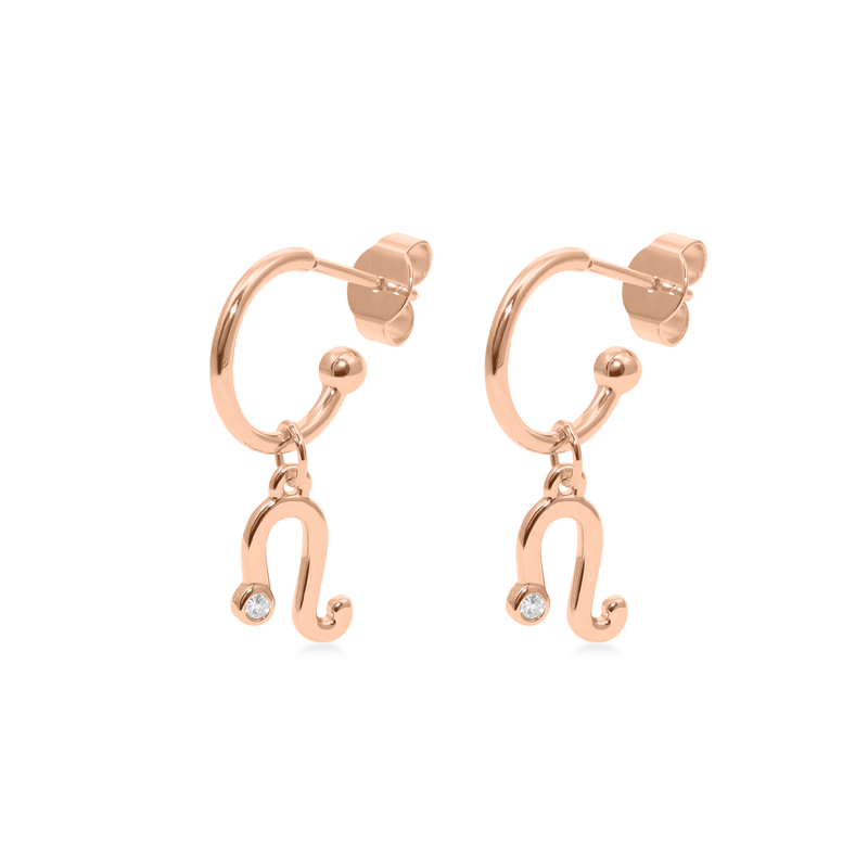 Leo Hoop Jewelry luisa-lion Rose Gold Vermeil Pair