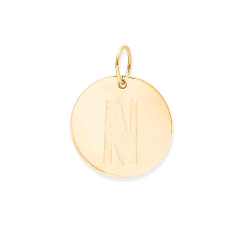 Letter A-Z Anhänger - 24ct Gold Vermeil Jewelry frau-hoelle 24ct Gold Vermeil N