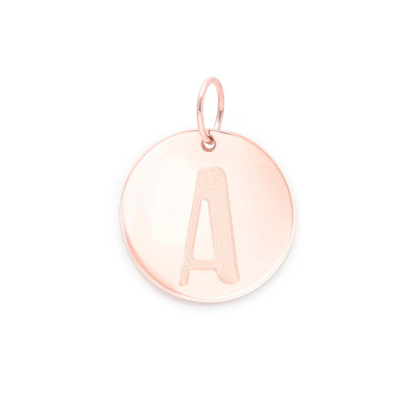 Letter A-Z Anhänger - Rose Gold Vermeil Jewelry frau-hoelle Rose Gold Vermeil A