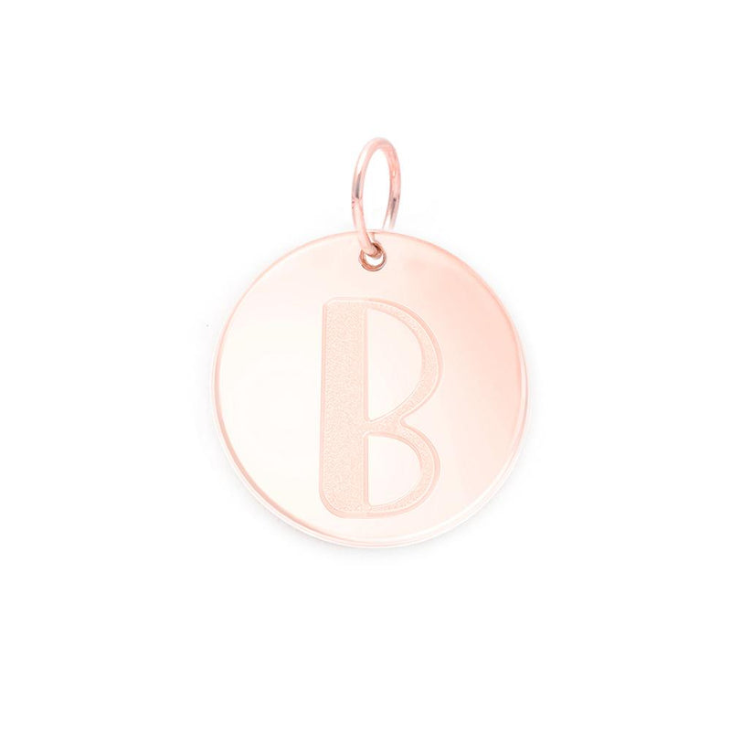 Letter A-Z Anhänger - Rose Gold Vermeil Jewelry frau-hoelle Rose Gold Vermeil B