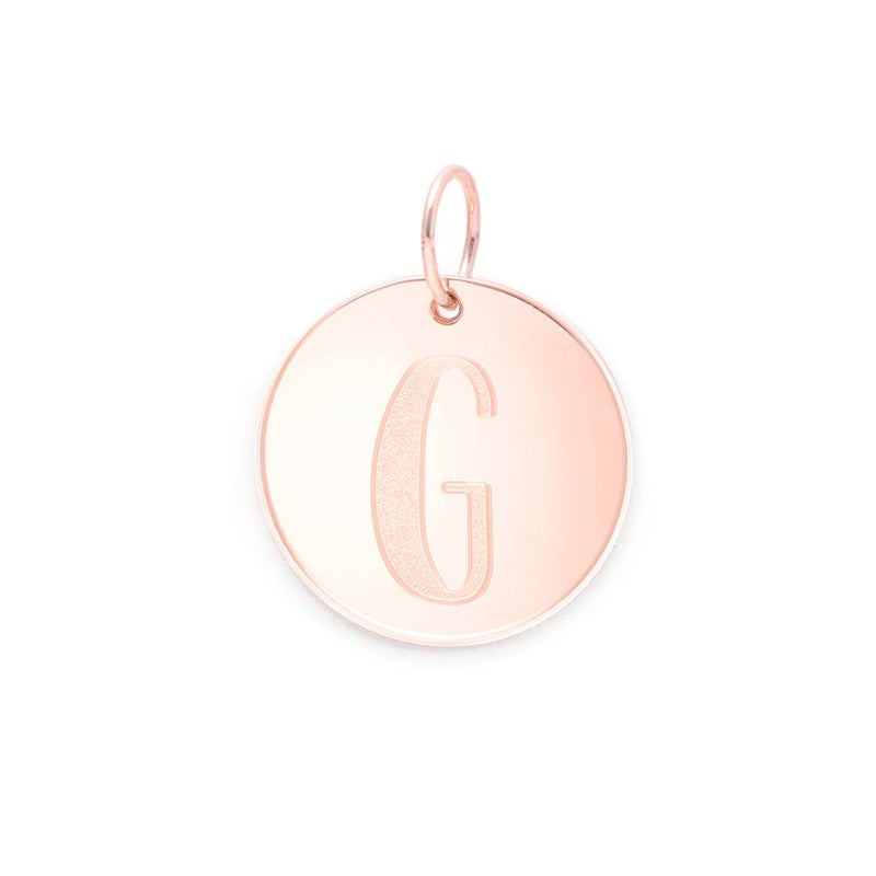 Letter A-Z Anhänger - Rose Gold Vermeil Jewelry frau-hoelle Rose Gold Vermeil G