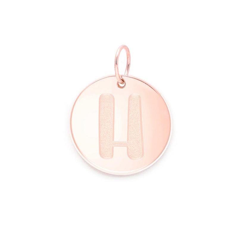 Letter A-Z Anhänger - Rose Gold Vermeil Jewelry frau-hoelle Rose Gold Vermeil H