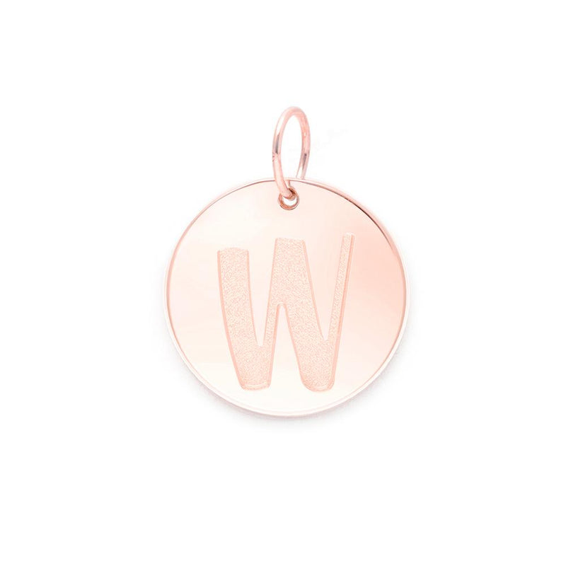 Letter A-Z Anhänger - Rose Gold Vermeil Jewelry frau-hoelle Rose Gold Vermeil W