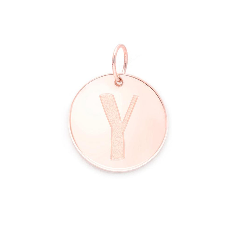 Letter A-Z Anhänger - Rose Gold Vermeil Jewelry frau-hoelle Rose Gold Vermeil Y