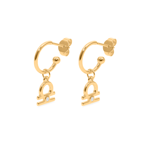 Libra Hoop Jewelry luisa-lion 24ct Gold Vermeil Pair