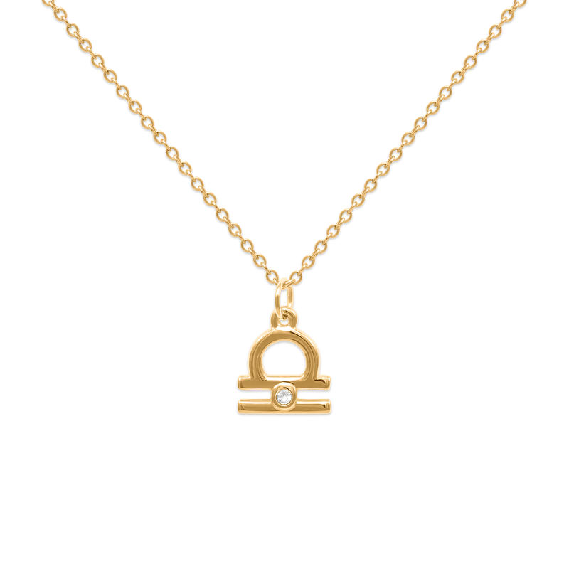 Libra Kette Jewelry luisa-lion 24ct Gold Vermeil Necklace size: S (45cm)