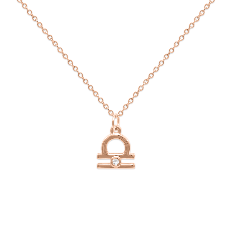 Libra Kette Jewelry luisa-lion Rose Gold Vermeil Necklace size: S (45cm)