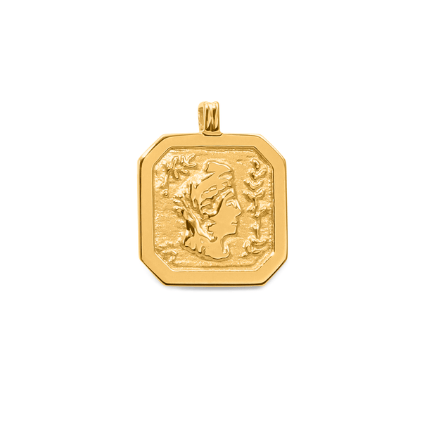 London Arsinoe II Medal Anhänger Jewelry sammi-maria 24ct Gold Vermeil