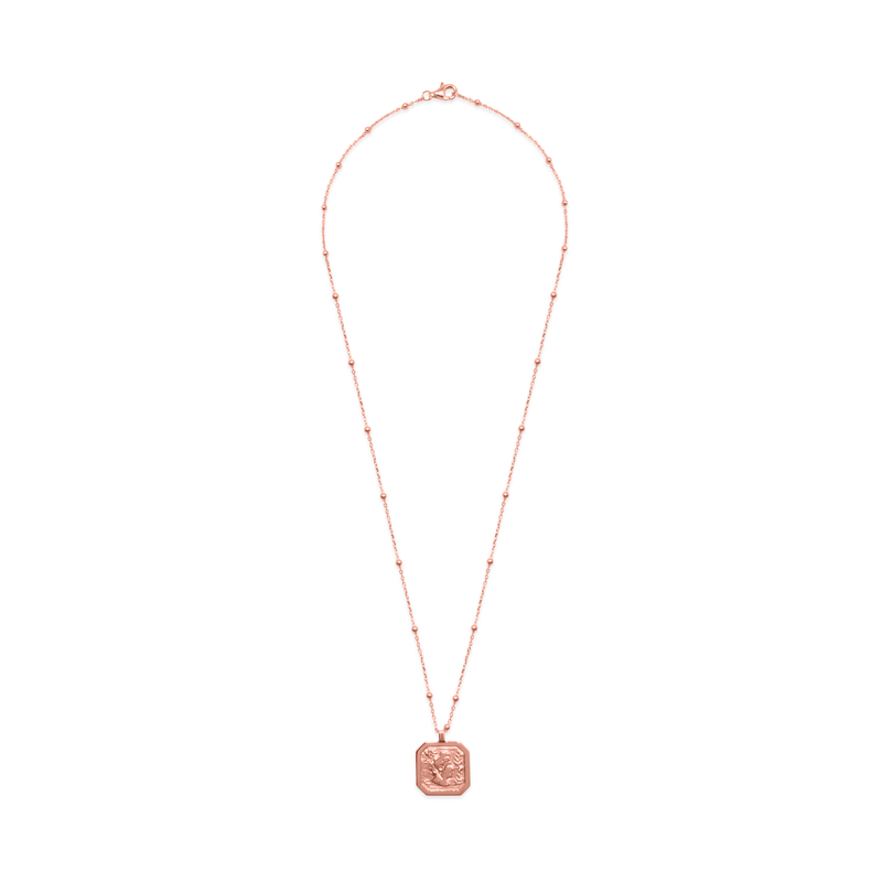 London Arsinoe II Medal Kette Jewelry sammi-maria Rose Gold Vermeil S (45cm)