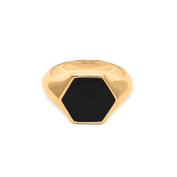 London Boyfriend Signet Ring Jewelry sammi-maria 24ct Gold Vermeil L - 60 (19.1mm)