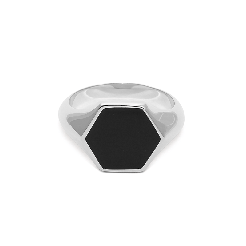 London Boyfriend Signet Ring Jewelry sammi-maria 925 Silver XS - 49 (15.6mm)