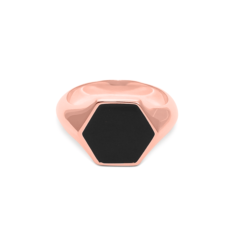 London Boyfriend Signet Ring Jewelry sammi-maria Rose Gold Vermeil L - 60 (19.1mm)