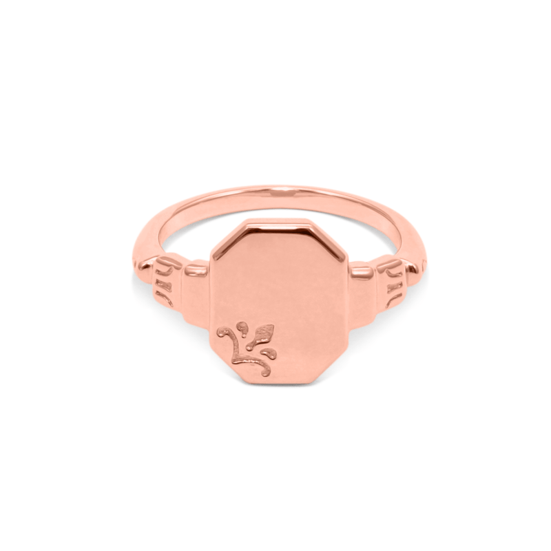 London Heirloom Signet Ring Jewelry sammi-maria Rose Gold Vermeil L - 60 (19.1mm)