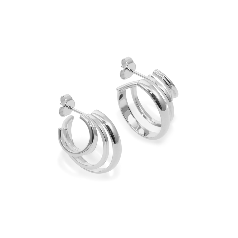 London Stacked Hoops Jewelry sammi-maria 925 Silver