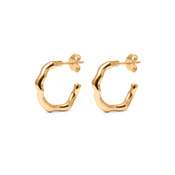 L'Or Liquide Ear Hoops Jewelry teetharejade 24ct Gold Vermeil