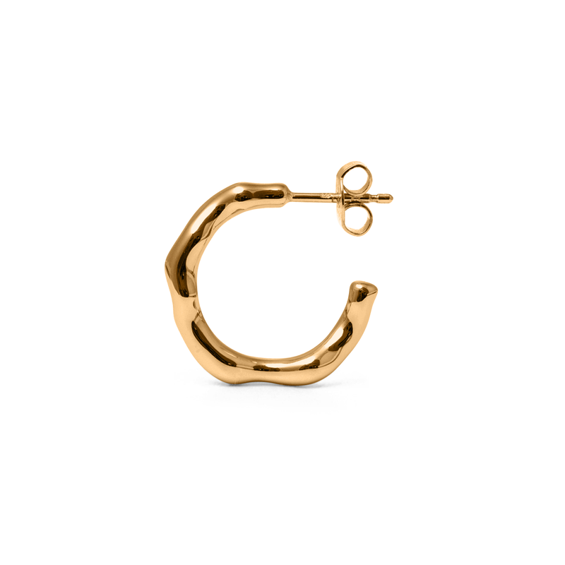 L'Or Liquide Ear Hoops Jewelry teetharejade 925 Silver Gold Plated
