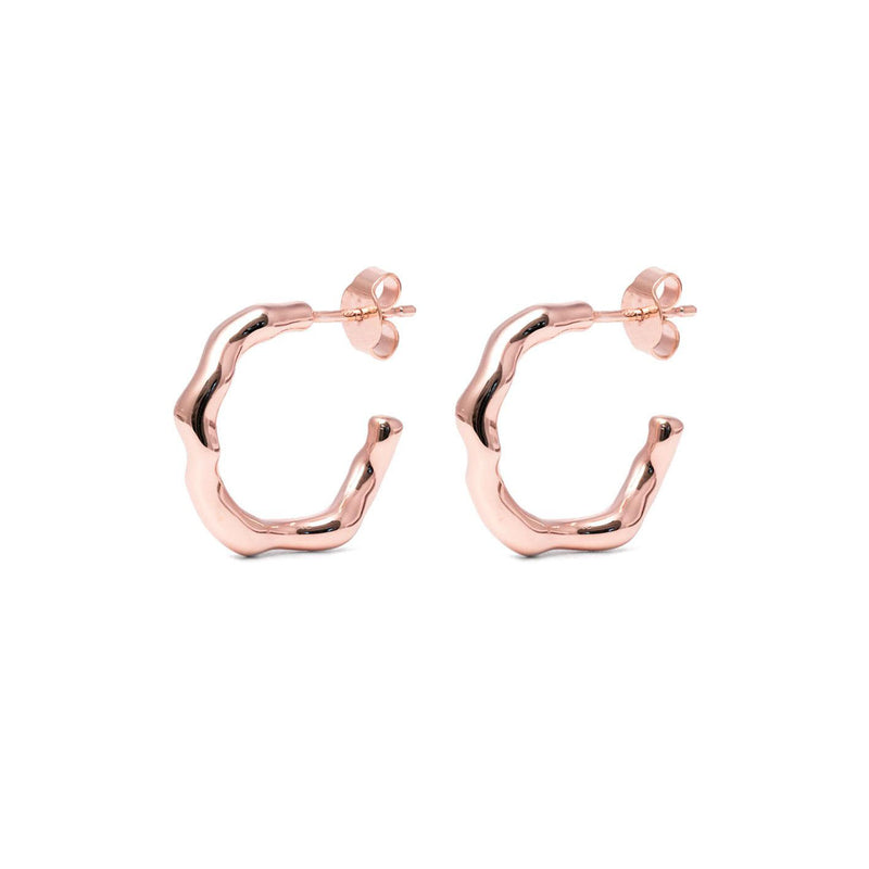L'Or Liquide Ear Hoops Jewelry teetharejade Rose Gold Vermeil
