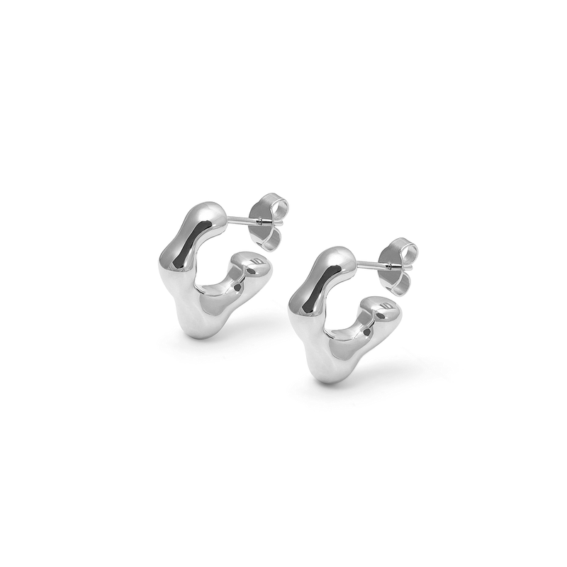 L'Or Liquide Mini Ear hoops Jewelry teetharejade 925 Silver