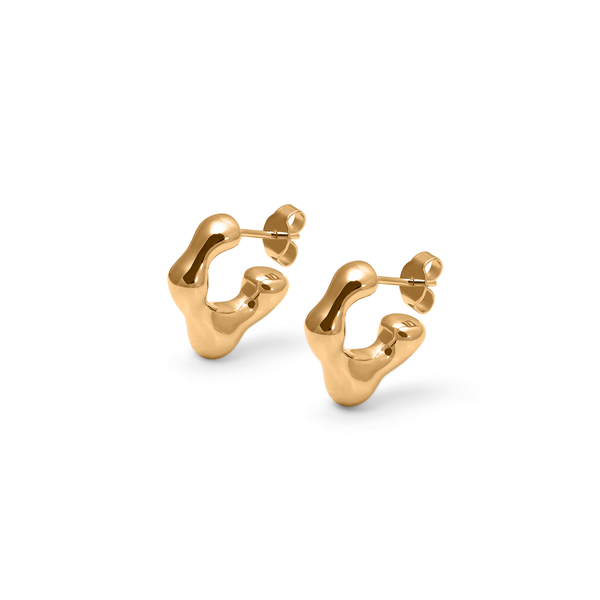 L'Or Liquide Mini Ear hoops Jewelry teetharejade 925 Silver Gold Plated