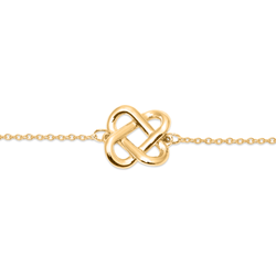 Love Knot Armband Jewelry jill-and-mia 925 Silver Gold Plated