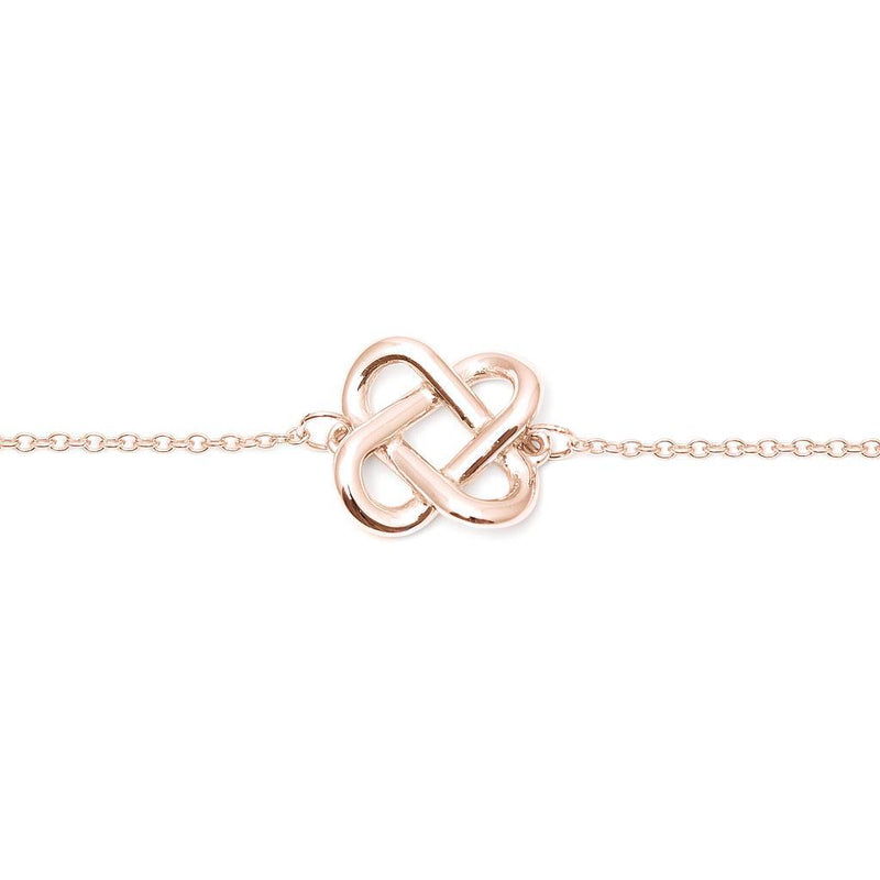 Love Knot Armband Jewelry jill-and-mia 925 Silver Rose Gold Plated