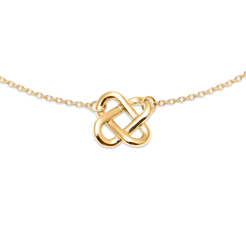 Love Knot Choker Jewelry jill-and-mia 925 Silver Gold Plated