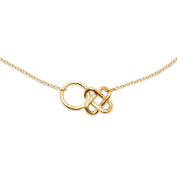 Love Knot Kette Jewelry jill-and-mia 925 Silver Gold Plated S (45cm)