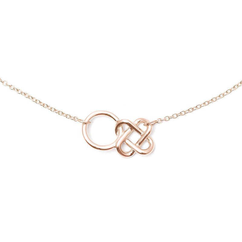 Love Knot Kette Jewelry jill-and-mia 925 Silver Rose Gold Plated S (45cm)
