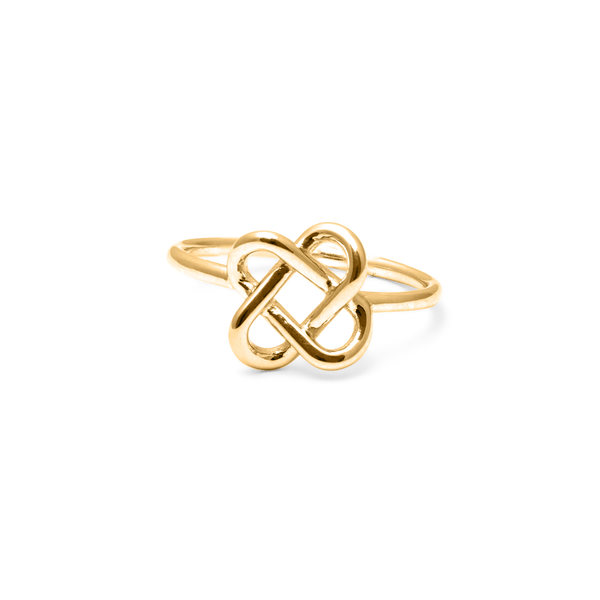 Love Knot Ring Jewelry jill-and-mia 925 Silver Gold Plated S - 52 (16.6mm)