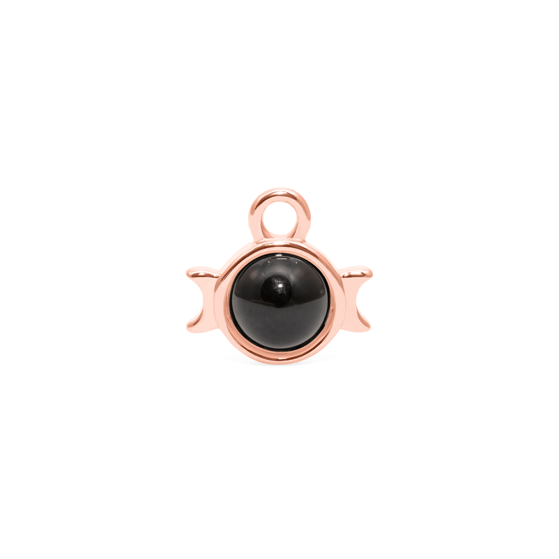 Magic Spell Charm Nr.1 Onyx Jewelry jacko-wusch 925 Silver Rose Gold Plated