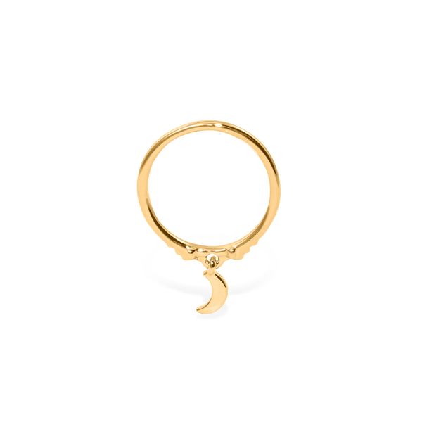 Magic Spell Charm Ring Nr.2 Jewelry jacko-wusch 925 Silver Gold Plated XS - 49 (15.6mm)