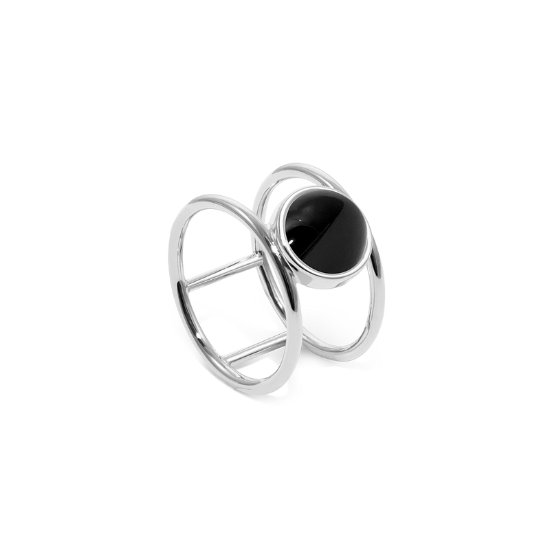 Magic Spell Double Ring Onyx Jewelry jacko-wusch 925 Silver XS - 49 (15.6mm)