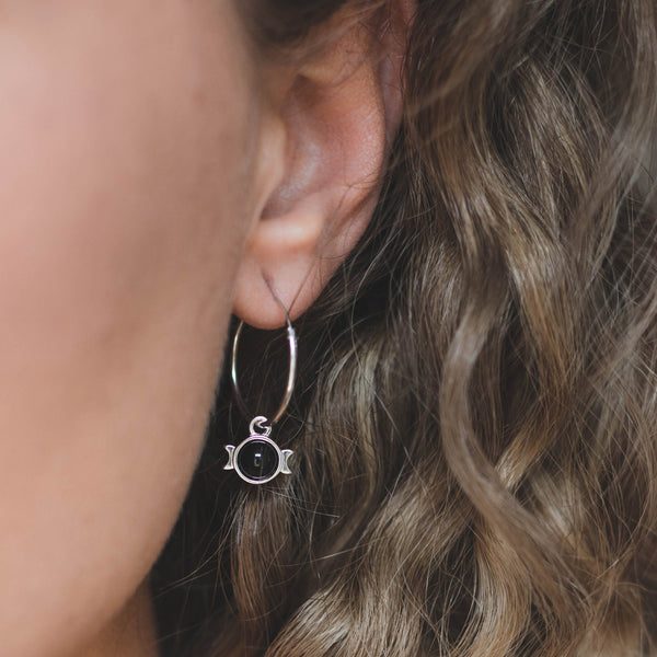 Magic Spell Ear Hoops Nr.1 Onyx Jewelry jacko-wusch