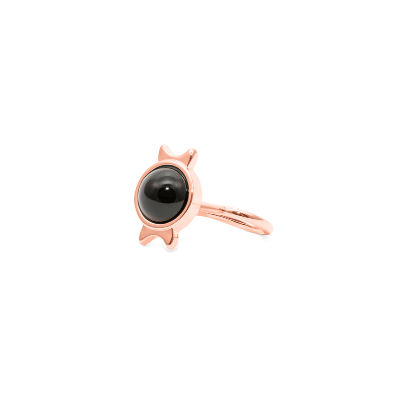 Magic Spell Earcuff Nr.1 Onyx Jewelry jacko-wusch 925 Silver Rose Gold Plated