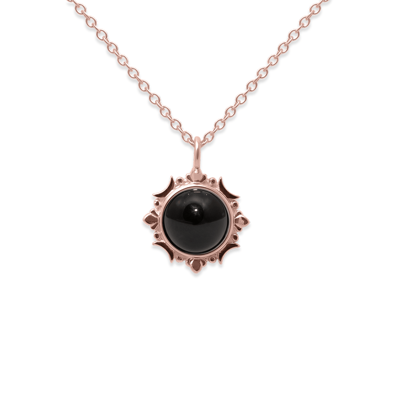 Magic Spell Kette Nr.1 Onyx Jewelry jacko-wusch 925 Silver Rose Gold Plated S (45cm)