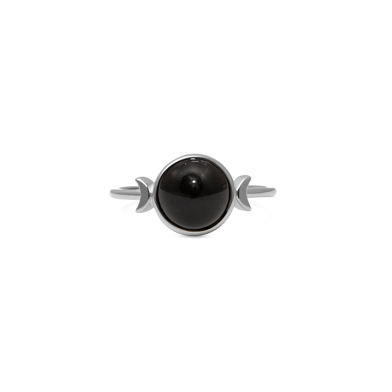 Magic Spell Ring Onyx Jewelry jacko-wusch 925 Silver XS - 49 (15.6mm)