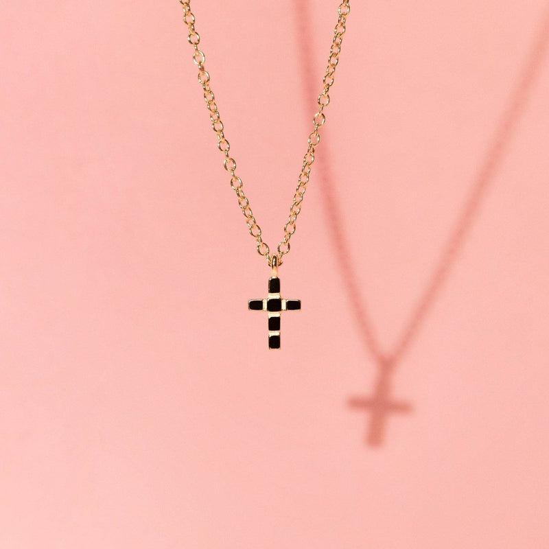 Make a Wish Cross Choker Jewelry luisa-lion
