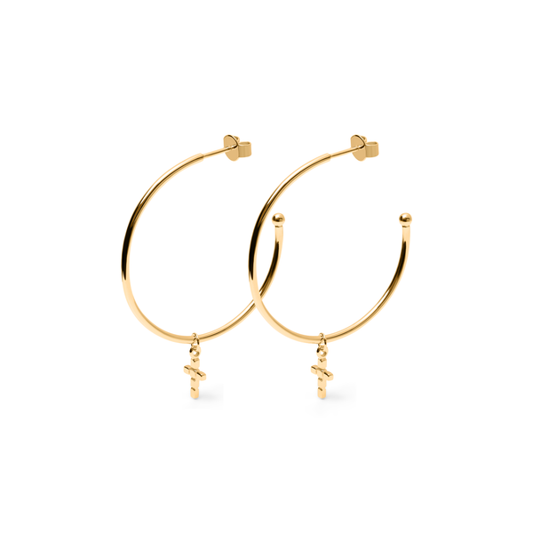 Make a Wish Cross Ear Hoops Jewelry luisa-lion
